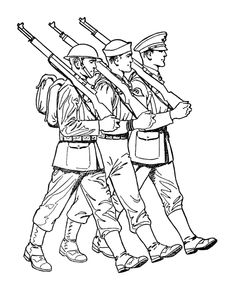 Armed Forces Day Coloring page | US Army World War I battlefield ...