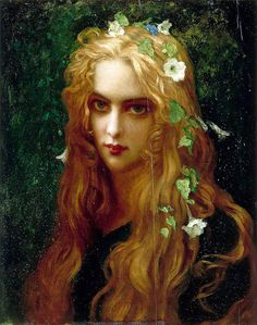 """Ernest Hebert (1817-1908), """"Ophelia"""" ... though somehow in this painting, I think she would look great as a guy o.o"""