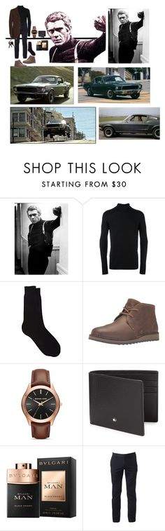 """Bullitt: McQueen King of Cool Fashion❤️🕶❤️"" by chrisiggy ❤ liked on Polyvore featuring Alexander McQueen, TRANSIT, Barneys New York, Sperry, Michael Kors, Montblanc, Urban Pipeline, Jeckerson, men's fashion and menswear"