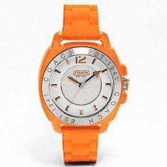 Coach Boyfriend Watch - I really wanted an orange watch so I chose this, it's fun for summer.
