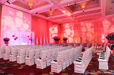 A Vegas Wedding With Hot Pink Ceremony Filled Roses And Crystals Destination Planning Design By Tiffany Cook Events