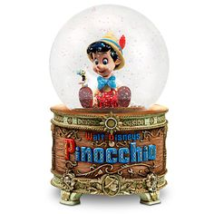 Your WDW Store - Disney Snow Globe - Pinocchio - Musical 'When You Wish Upon a Star'