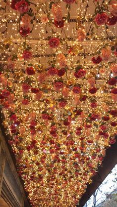 noctisia: Galeries Lafayette - - Strange Nostalgia for the Future Wedding Stage, Wedding Goals, Red Wedding, Wedding Reception, Wedding Venues, Wedding Day, Outdoor Wedding Decorations, Stage Decorations, Event Decor