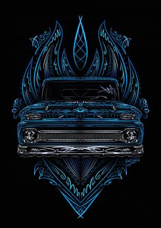 /\Friday Art Show Classic Chevy Trucks, Classic Cars, Arte Lowrider, Cool Car Drawings, Rockabilly Art, Pinstripe Art, Pinstriping Designs, Truck Art, Garage Art