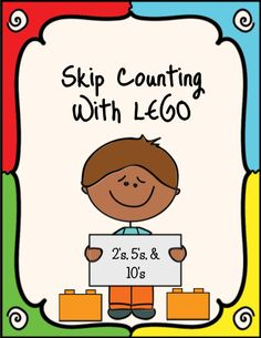 LEGO activity for students to practice skip counting by and Blank LEGO bricks are included so students can determine the missing number. Students use LEGO bricks to count the increasing increments. Skip Counting Activities, Counting In 2s, Numeracy Activities, Kids Learning Activities, Math Classroom, Kindergarten Math, Teaching Math, Lego Math, Maths