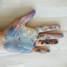 Embrace the experience of paint on your hand--the artistic experience--and paint a painting on your hand. It will not stay, but then no experience does, only the memory
