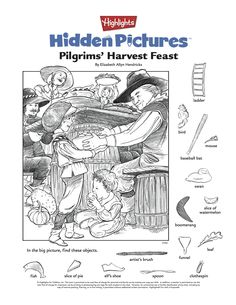 Thanksgiving Hidden Pictures puzzle printable for kids: Hidden Picture Games, Hidden Picture Puzzles, Hidden Object Puzzles, Hidden Objects, Hidden Images, Hidden Pics, Hidden Pictures Printables, Highlights Hidden Pictures, Printable Activities For Kids