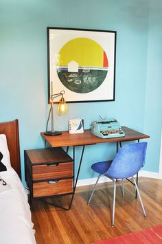 Modern Kiddo - forget the kid!! I want this as my bed side table set up :)
