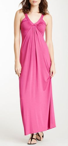 Bordeaux V-Neck Maxi Dress mostestized - love it