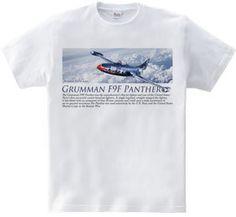 F9F パンサー : Kazu Aviation Art [半袖Tシャツ [6.2oz]] - デザインTシャツマーケット/Hoimi(ホイミ)