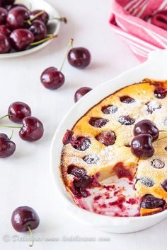 Cherry clafoutis from Delicieux