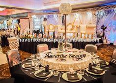 lazy susan wedding centerpiece - Google Search Wedding Centerpieces, Wedding Decorations, Table Decorations, Lazy Susan, Table Settings, Reception, Crystals, Bowls, Fat