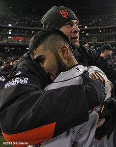 #Sergio_Romo and Vogelsong #SFGChamps
