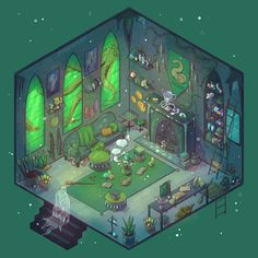 Slytherin common room 🐍 Swipe for close ups + time lapse ✨ Prints available: link in bio! (Edit: YES I will be making a common room for… Magia Harry Potter, Arte Do Harry Potter, Harry Potter Drawings, Harry Potter Universal, Harry Potter Fandom, Harry Potter World, Slytherin Pride, Slytherin House, Slytherin Aesthetic