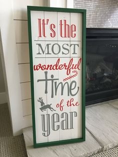 Christmas Wood Sign - The Most Wonderful Time of The Year