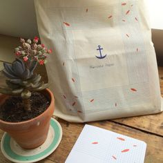 Totebag coton bio Poissons by MonsieurPapierFrance on Etsy