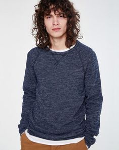 Gino Pullover Empire Blue aus Biobaumwolle #veganemode #veganfashion #fairfashion Models, Men Sweater, Turtle Neck, Sweatshirts, Sweaters, Shopping, Empire, Medium, Fashion