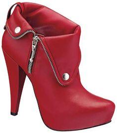 imagenes de zapatos rojos bota de cuero