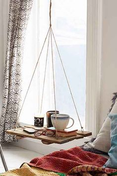 Floating shelf! Perfect for a reading nook