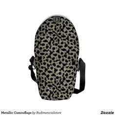 Metallic Camouflage Messenger Bag by #dflcprints and #zazzle