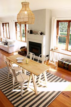 www.plankandtrestle.com.au - Traditional Pine dining trestle table with A-frame legs - Plank and Trestle