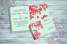 Custom Wedding Invitation Floral themed by SansDesignDeck on Etsy