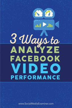 Is video part of your Facebook marketing strategy?  To make informed decisions about using video on Facebook, you need to have a good understanding of how your fans consume it.  In this article you'll discover three ways to analyze video posts on Facebook. Via @smexaminer.