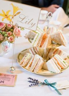 sandwiches and tea - post-ceremony afternoon tea