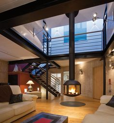 #loft avec cheminee #design phare
