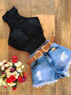 New style feminino black 40 Ideas Lazy Outfits, Tumblr Outfits, Teenager Outfits, Cute Summer Outfits, Cute Casual Outfits, Spring Outfits, Girl Outfits, Fashion Outfits, Look Fashion
