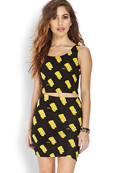 Forever 21 Bart Simpson Bodycon Skirt and other apparel, accessories and trends. Browse and shop 26 related looks. Couture Outfits, Haute Couture Fashion, Couture Clothes, Runway Fashion, Fashion News, Women's Fashion, Forever 21 Skirt, Body Con Skirt, Forever21