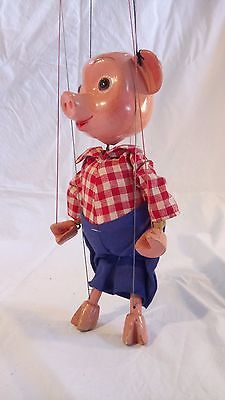 1960-039-s-Vintage-Pelham-Puppet-Boxed-Perky-the-Pig