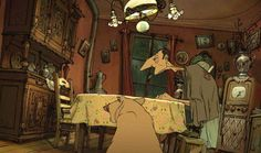 The characters in Les Triplettes De Belleville are completely unforgettable.
