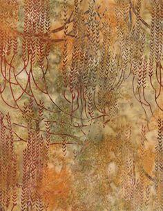 Firestorm Tonga BATIK from Timeless Treasures wild meadow gold