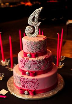 Pretty Bat Mitzvah cake
