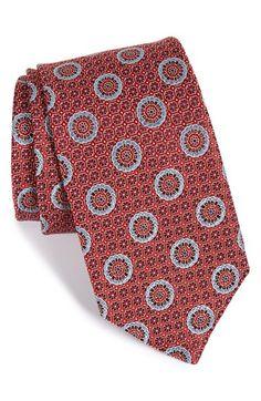 John W. Nordstrom® 'Rebo' Medallion Silk Tie available at #Nordstrom