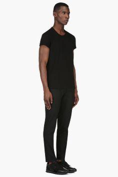 MAISON MARTIN MARGIELA Black Enclosed Chain T-Shirt