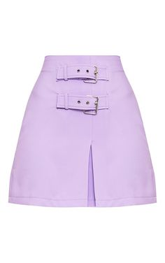 Danika Lilac Double Buckle Mini Skirt  Image 3