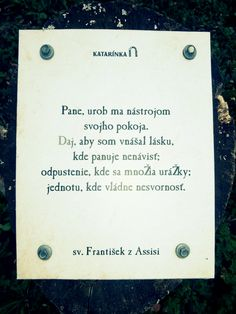 Katarínka - Dechtice - Slovensko - sv. František - pin na pni - pax et bonum - pokoj a dobro Peaceful Places, Books, Libros, Book, Book Illustrations, Libri