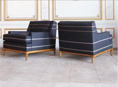 Paul smith fabric club chairs - 1stdibs