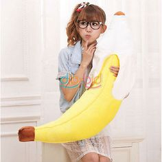 Hot New Soft Novelty Simulation Yellow Banana Plush Stuffed Pillow Creative Plush Pillow Cushion Toy Gift Fancy Colours Novelty & Special Use