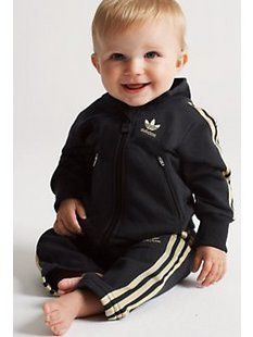 Baby Adidas jumpsuit.