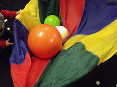 by Pam @ How Long is This Hall? We love parachute games in my preschool special education classroom! Pulling out the parachute brings. Preschool Special Education, Preschool Music, Kids Education, Music Education, Physical Education, Gross Motor Activities, Gross Motor Skills, Activities For Kids, Sensory Activities