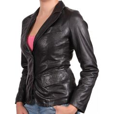 Buy Women Leather Blazers online at Leathernxg