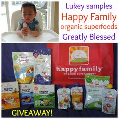 Greatly Blessed: Lukey Samples Happy Family Toddler Food - GIVEAWAY