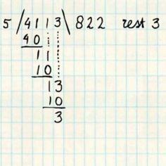 rest 3. of nul aanhalen en komma plaatsen dan gaat ie nog zes keer en wordt het 822,6