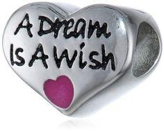 "Disney Stainless Steel ""A Dream is a Wish"" Heart Bead Charm Disney,http://www.amazon.com/dp/B00FMTK022/ref=cm_sw_r_pi_dp_kDkxtb18RWXTVAKM"