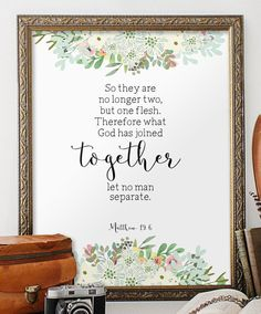 Love Printable Verses Wedding Quote From The Bible Gift Decor Christian Wall Art Marriage Sign Scripture BD918