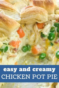 Chicken Pot Pie Filling, Chicken Pot Pie Casserole, Casserole Recipes, Creamy Chicken Pot Pie Recipe, Easy Pot Pie Recipe, Chicken Pop Pie, Healthy Chicken Pot Pie, Best Chicken Pot Pie, Chicken Pot Pie Recipe With Canned Biscuits