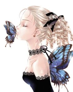 Animated Glitter Graphics | Glitter Graphics » Fantasy » butterfly kiss